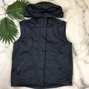 Armani Jeans Outdoor Hooded Vest Blue Size 12